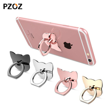 Pzoz 360 Degree metal Finger ring holder cat,Love,glitter,diamond luxury women for iphone pop socket grip mount cell Phone stand