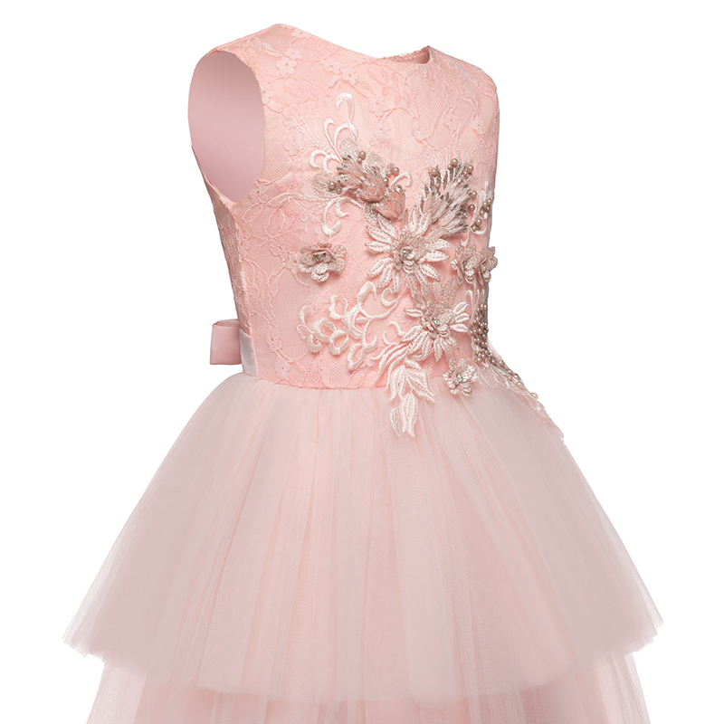 Kids Girls Clothes Lace Flower Fancy Bridesmaid Kids Dresses Children Princess Dress long Gowns Pageant Party Communion Cosutme