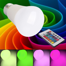 New Design 5W E27 RGB Lamp 16 Colors Intelligent LED Light Bulb Lamps Spotlight+IR Remote Control Candle Lamp Ball Lamps