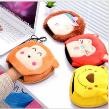Cute warm in winter USB heated mouse pad with wrist hand warmers heating pad thickening and Washable(China)