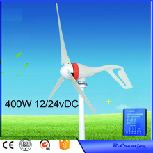 2017 hot !!400W wind generator 3 blades wind turbine generator CE&ROHS approval wind power generator+waterproof wind controller