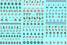 3 PACK/ LOT WATER TRANSFER DECAL NAIL ART NAIL STICKER MERRY CHRISTMAS XMAS TREES BELLS SNOW MAN YE456-458