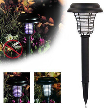 POTENCO UV LED Solar Lawn Lamps Outdoor Garden Lamp Anti Mosquito street Lighting New Year's street garland Luces Led Decoracion(China)
