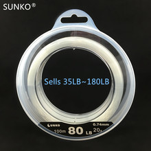 SUNKO Brand NO.20# 80LB Nylon Fishing Line Super Strong Monofilament Fishing Line Lure Rock Sea Fishing(China)