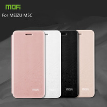 For MEIZU M5C Case Mofi Fashion Book Flip PU Leather Cell Phone Cover For MEIZU Meilan A5 Stand Case(China)