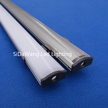 20pc(20m)/pack;1m 40inch per piece led aluminum profile for led strips QC1806B-1m with Milky or Transparent Cover