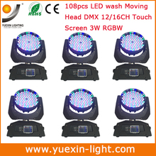 Free Shipping 6PCS/LOT 108pcs 3W Moving Head Wash Lights RGBW 4 IN 1 Color Cheap Stage Disco Lighting Systems for Sale(China)
