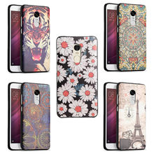 Xiaomi Redmi Note 4 Global Version Silicone Case 3D Relief Painting Soft Silicon Back Cover Shell Mobile Phone Redmi Note 4X(China)