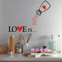 [i story]-free shipping Love flavoring creative vinyl tile wall stickers,glass cabinets, lovely fridge magnet kitchen decor