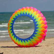 free shipping high quality 5m Ring Kite Spinning Crown outdoor toys large kite weifang kaixuan kite factory wholesale windsocks