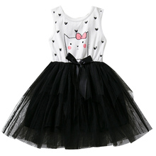 Summer Vest Kids Dresses For Girls Infant Party Costume Little Baby Girl Tutu Frocks Children Kitty Outfits Toddler Girl Clothes