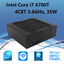 Wolferdtech DIY Mini Desktop Computer With 6Gen i7 6700T 4C8T 3.6GHz 35W, USB Type C, M.2 SSD, DDR4 RAM, Pre-installed Windows