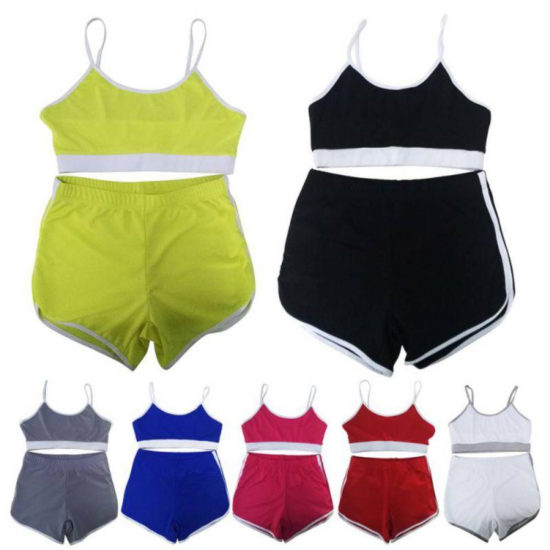 Sport Suit Tracksuit Bra+Short Sportswear 3