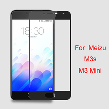 "For Meizu M3S M3 S Mini 5.0"" Silk Printing Full Cover Tempered Glass Film For Meiblue 3S Colorful Protective Screen Protector"