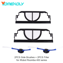 Buy 2PCS 2-Armed Side Brushes + 2PCS Filters iRobot Roomba 400 Series Replacement Accessories Kit Vacuum Cleaners for $8.19 in AliExpress store