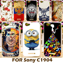 DIY Painting design Hard Plastic Case For Sony Xperia M Dual C1904 C2005 4.0 inch C1905 C2004 Cell Phone Cover Protective Shell
