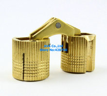 4 Pieces/Lot HIDDEN HINGE INVISIBLE HINGE BARREL CONCEALED HINGE 16MM - BRASS(China)