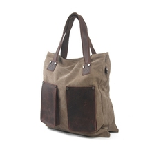 tote bag style shopping bag Trend Hand cowhide bagMessenger Shoulder bag khaki gray army green book classic big size bags(China)