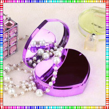 6600mAh Heart Shape Power Bank Makeup Mirror Power Charger For iPhone6 Smartphones Girls Gift Battery Backup Mobile power