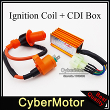 Racing Ignition Coil 6 Pins Wires AC CDI Box Fit Chinese GY6 50cc 125cc 150cc Engine ATV Quad Go Kart Moped Scooter