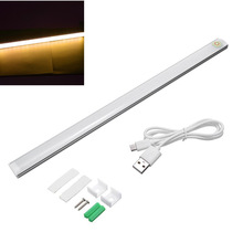Modern 6W 21 LED USB Powered Touch Sensor Dimmable LED Bar Lamp For Bedroom Bedside Cabinet Wardrobe Light Pure Warm White DC 5V