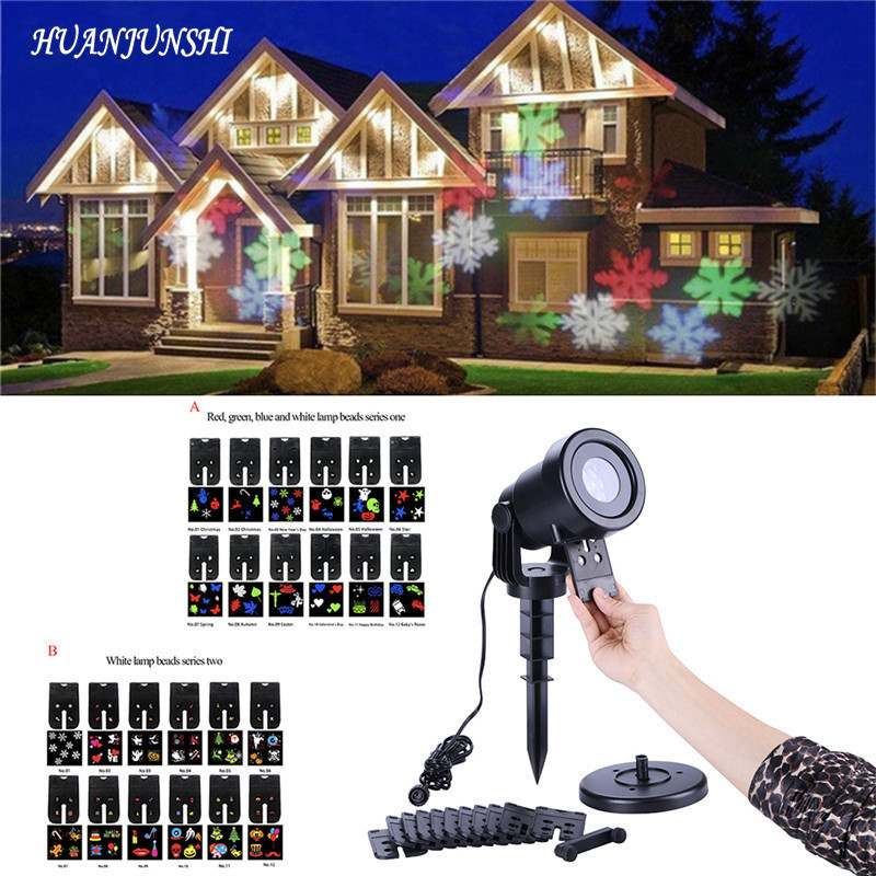 Outdoor Snowflake LED Stage Light Garden Snow Laser Projector for Christmas Party Decoration Landscape Lamp with remote control<br>