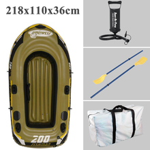 fishing 2 Person fish boat 218*110*36cm PVC inflatable boat fishing boat kayak paddle pump carry bag backpack dinghy raft(China)