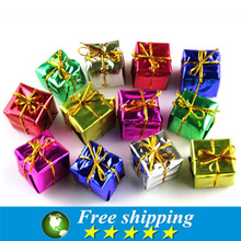 High quality Cute Gift Box Christmas Tree Ornaments Decorations Dinner Decor . 12 / Pack, 3X