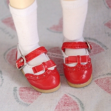 "OOAK Red Synthetic Leather Shoes Flats For 1/6 11"" 27cm Tall BJD doll YOSD DK DZ AOD DD Doll FREE SHIPPING(China)"