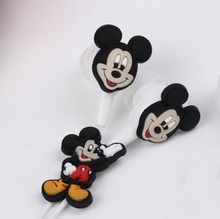 Hot Sale Mickey Mouse Earphone 3.5mm In-Ear Wired Earphone Cartoon Silicone For MP3 MP4 Player PSP 10pcs