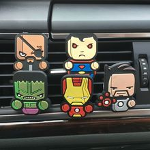 2017 New Car Air Freshener Perfume Car-Styling Cartoon The Avengers Marvel Style For Air Condition Vent Fashion Cute Parfums(China)