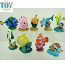 New 9pcs Pixar Finding Nemo Playset Figure Doll Clownfish Fish Cake Toppers Action Figure Cartoon Toys Kids Gift Collections