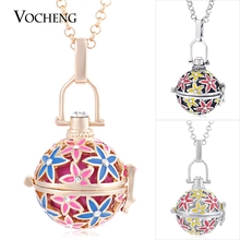 Vocheng Pregnancy Ball 3 Colors Star Hand Painted Inlaid Crystal Pendant Necklace with Stainless Steel Chain VA-212