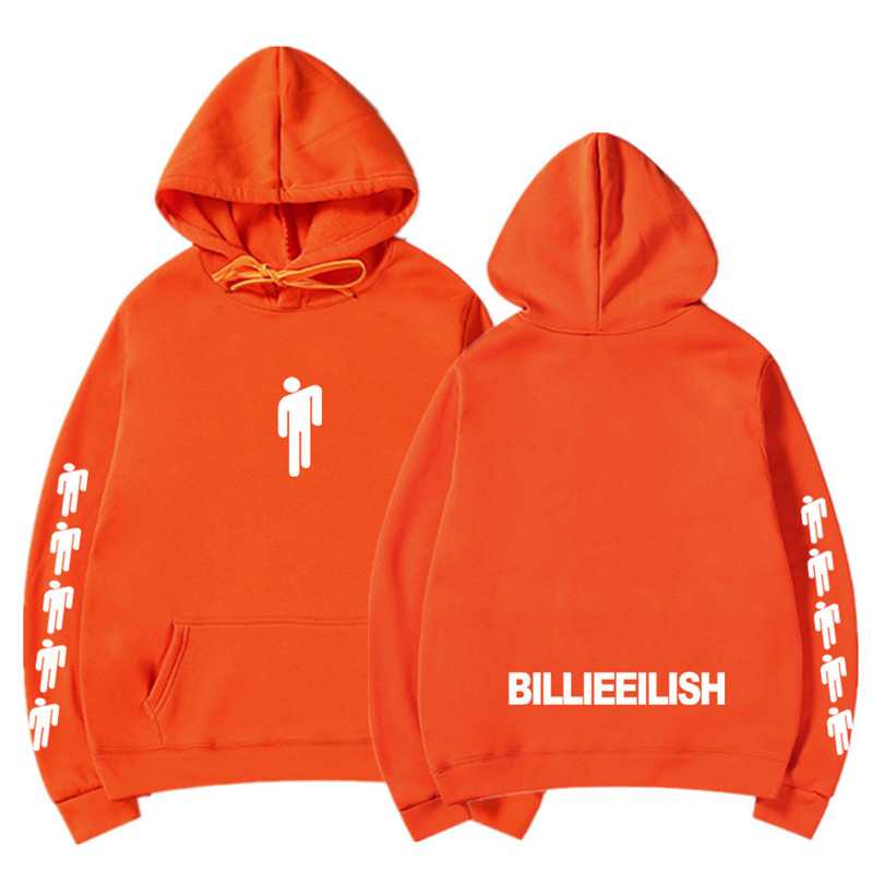 New Hot Billie Eilish Hoodie Men Black Cotton Hoodie Couple Billie Eilish Sweatshirt Simple Keep Warm Women/men Hoodie Clothes 11