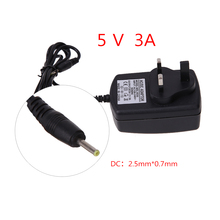 Universal UK Plug AC to DC 5V 3A 2.5*0.7mm Power Supply Charger Adapter for Windows Android Tablet PC 1M Cable(China)
