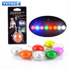 YVYOO Glowing Pet Cat dog Collars  Flashing LED Luminous Collar For Dogs Button Switch Animal Pet Accessories  Dogs Collar  A05