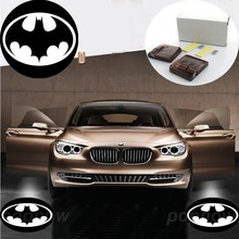 2pcs The Batman The Dark Knight Returns Logo Wireless LED Auto Car Door Welcome Projector Shadow Ghost Light #1928