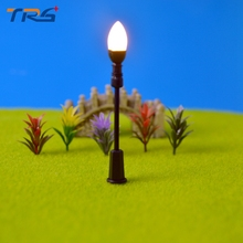 30PCS 1/75-200 Architectural Scale Model Layout Single Head Garden Lights Lamppost Lamp  Model Garden Lamps Model Building Kits