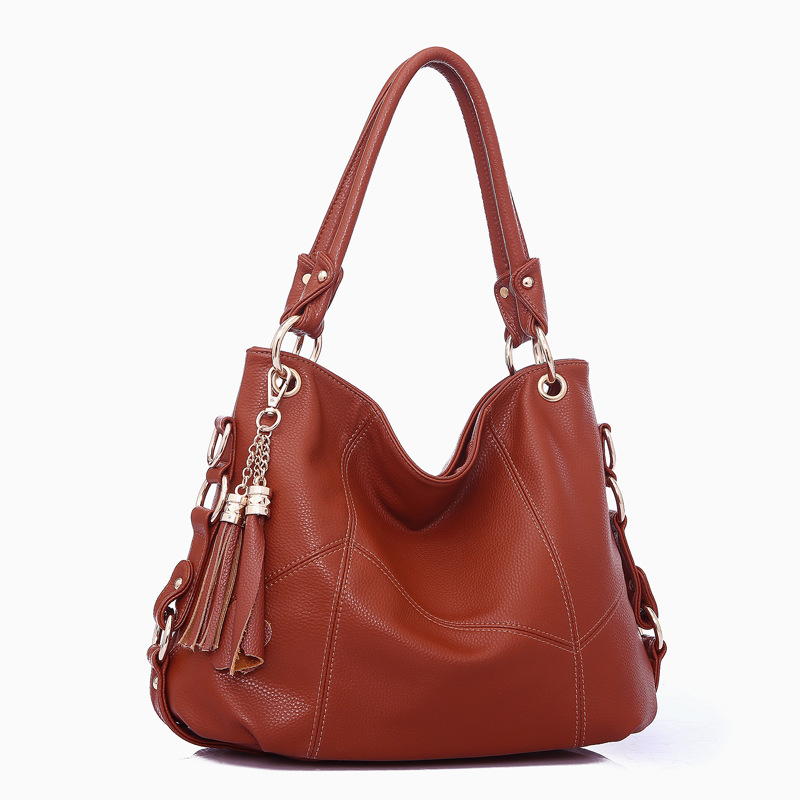 2017 new tassel handbag Korean Fashion Shoulder bag lady cross leather stitching hand<br>