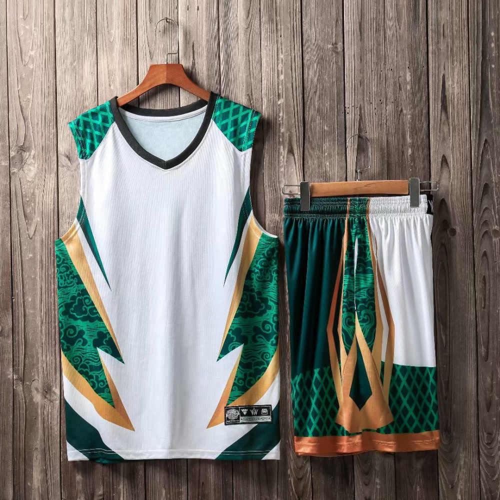 Для мужчин Дети майки спортивные костюм Молодежная форма для баскетбола  Наборы Спортивная Одежда Спортивный футбол Возврат 1f00496ed3c