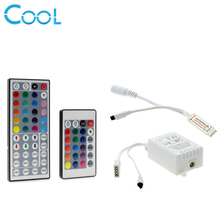 RGB LED Controller DC12V 44 / 24 Key IR Remote Controller For 3528 5050 RGB LED Strip(China)