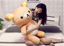 Free EMS 110cm kawaii cute big brown japanese style rilakkuma plush toy ,Kids rilakkuma bear birthday gift
