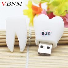 VBNM tooth shaped pen drive  teeth model usb flash drive pendrives 4GB 8GB 16GB 32GB cartoon memory stick special gift