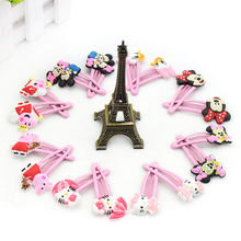 2 pcs/set 2017 Fashion Girls Hair Clips Hello kitty Cartoon Barrette 5cm BB Hairpins Children Hair Accessories