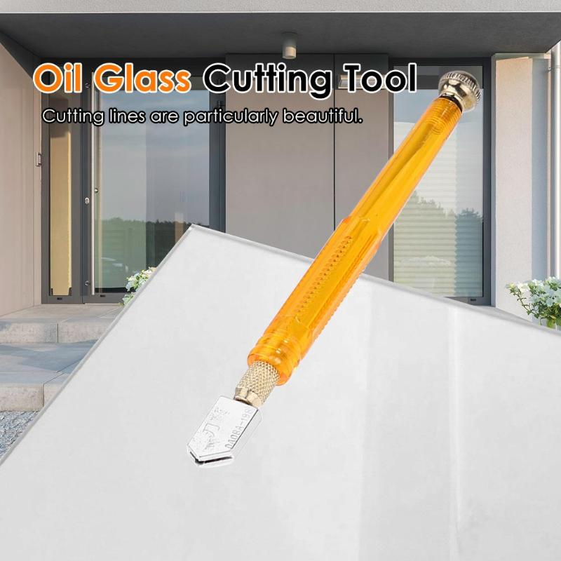Self-Oiling Alloy Glass Cutter for Mosaic//Tiles//Mirror Glass Cutting Tools