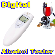 Hot 1pcs Professional Alcohol Analyzer Police Digital Breath Alcohol Tester HX-64 LCD Display Breath Analyzer alcohol Tester