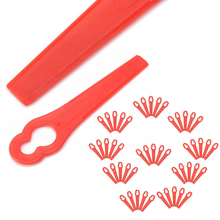 50pcs Plastic String Trimmer Blades For Garden Lawn Mower Replacement Blade Grass Cuttering Blade Garden Tools Mayitr