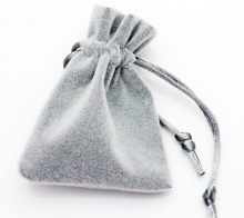 High Quality 7x9cm Drawstring Grey Silver Thicken Velvet Bag Jewelry Pouch Christmas Valentines Gift Bags 50pcs/lot Wholesale