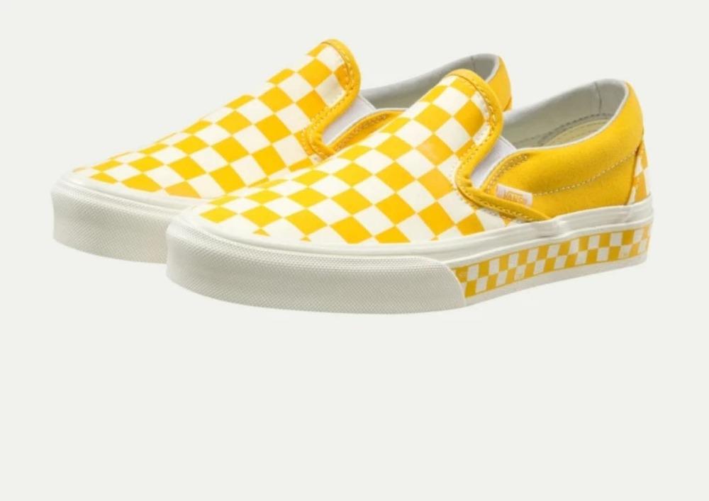 vans old skool checkerboard yellow
