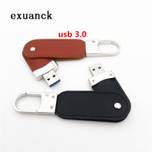 128GB 3.0 usb-stick leather key chain swivel usb flash pen drive memorys custom 4GB 8GB 16GB 32GB 64GB  (over 50pcs free logo)